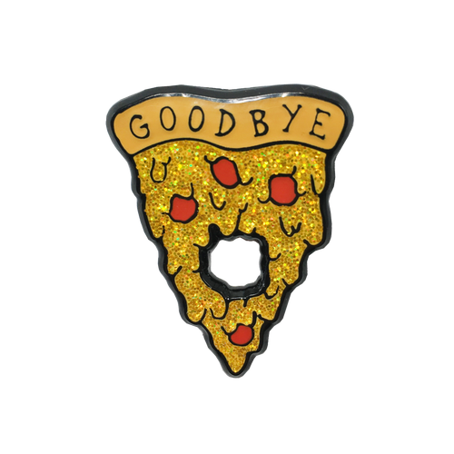 Pizza Planchette Pin (Glows in the Dark!)