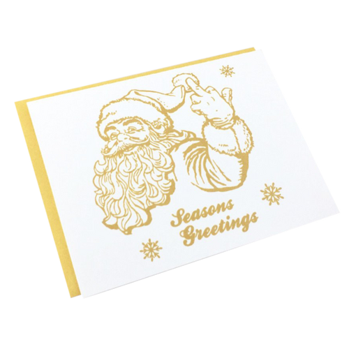 Salty Santa Christmas Card