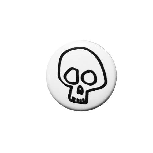 White Skull Button