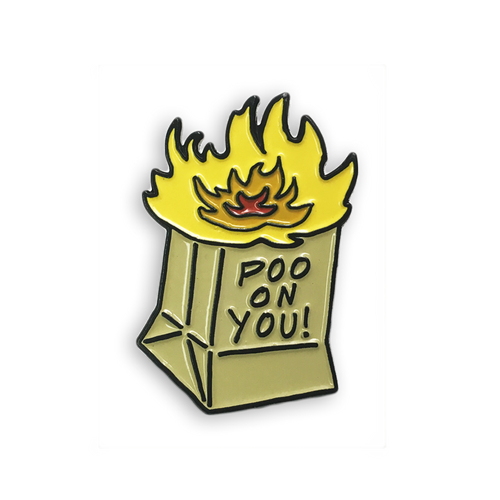 Flaming Poo Pin