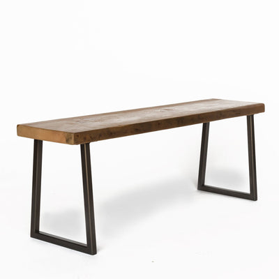 Brooklyn Modern Rustic Reclaimed Wood Bench