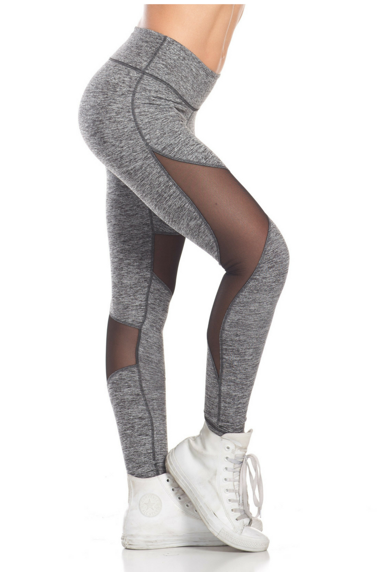 RAY MESH LEGGINGS – SPOTTED GREY