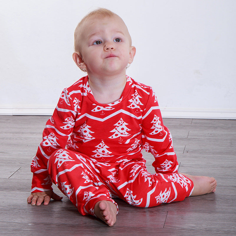 Baby Girls Boys Chiristmas Cotton Outfits Set Kids Romper Clothes Tops Pants | Edlpe