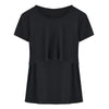 Image of Mother Wear Pure Color Breastfeeding Round Neck T-Shirt Top | Edlpe