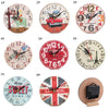 Image of 12Cm Mdf Wooden Wall/table/desk Clock Modern Vintage Rustic Shabby Chic Home Decor | Edlpe