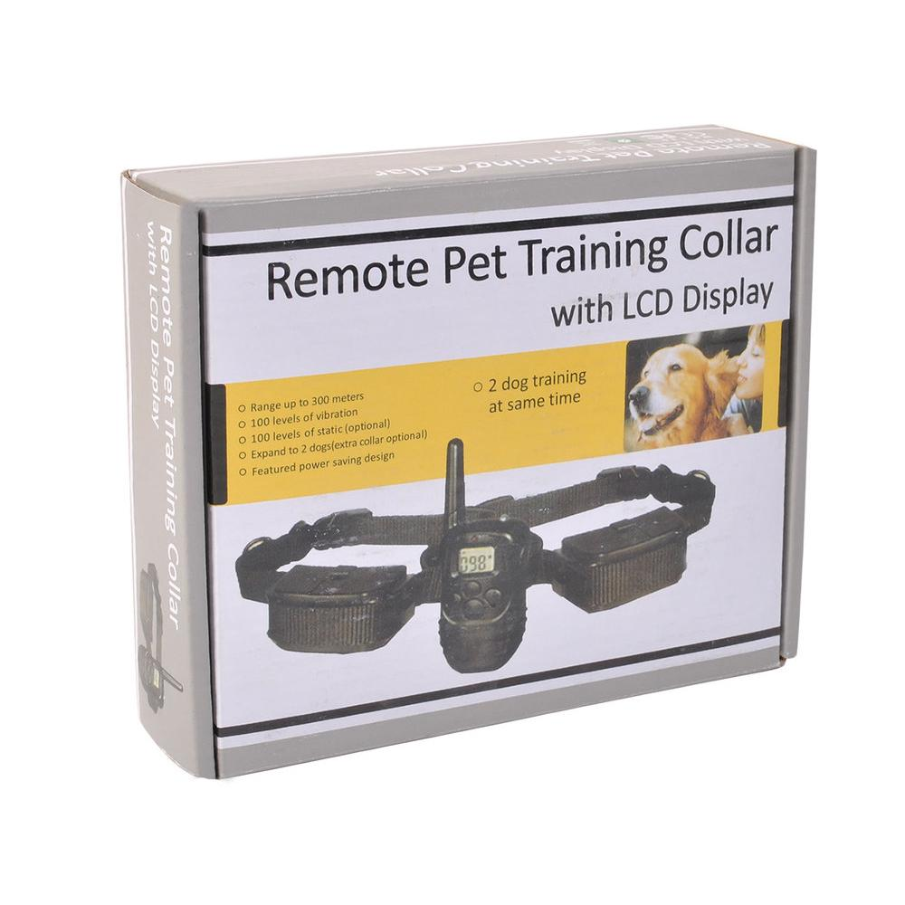 Pet Dog Collar Electric Training Rechargeable Lcd 100Lv Shock Two Collars | Edlpe