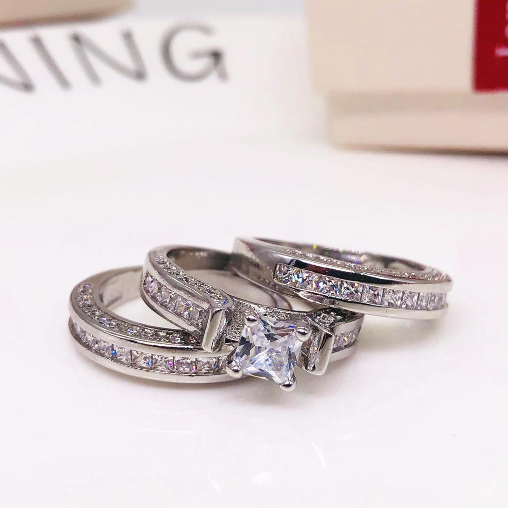 Romantic Dual Color Heart 8 Word Crystal Ring Surprise For Women | Edlpe