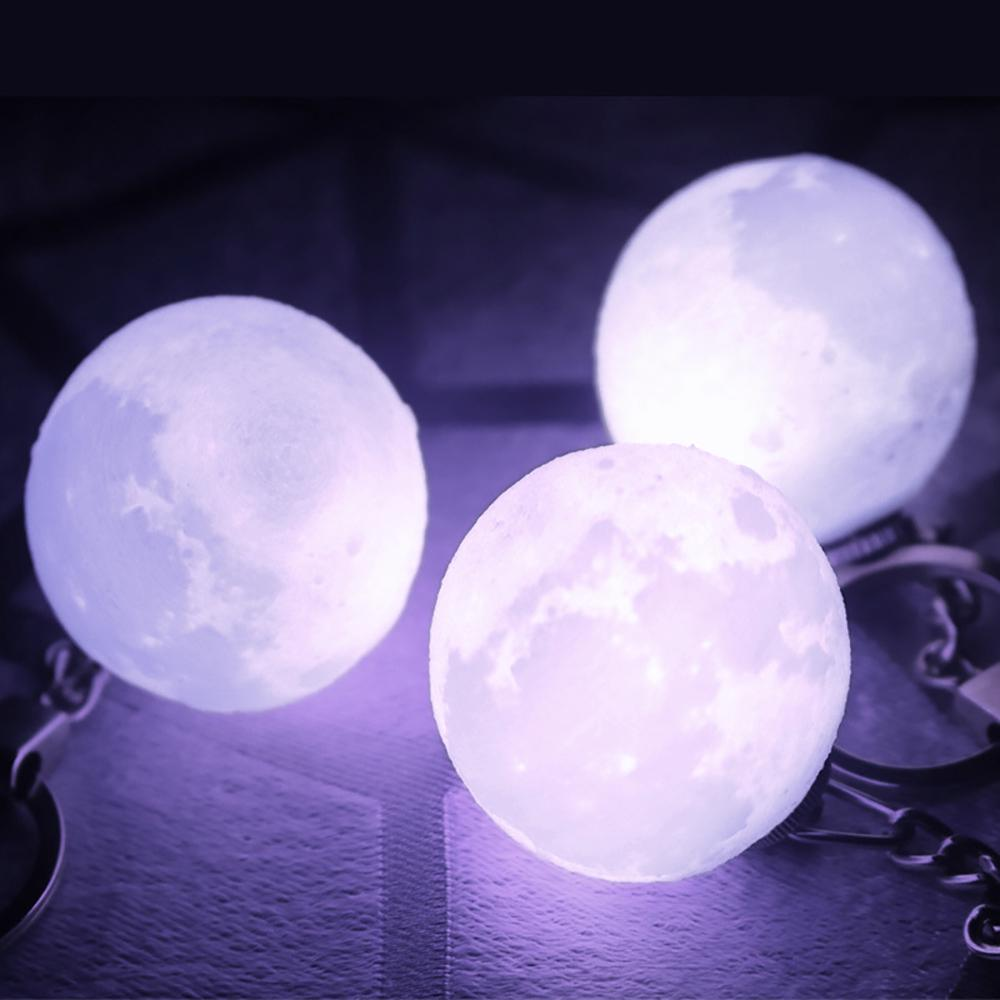 3D Printing Moon Lamp Night Light Keychain High Technical 3D Moon Light Led Keychain | Edlpe