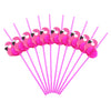 Image of 10Pcs/set 3D Flamingo Cocktails Party Drinking Straws Hawaiian Party Luau Fun Accessories Decor | Edlpe