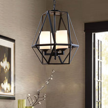 Parlama Industrial-Style 4 Light No-Glass Lantern Ceiling Pendant