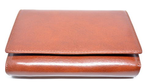Bifold Leather Purse-Tan - edocollection