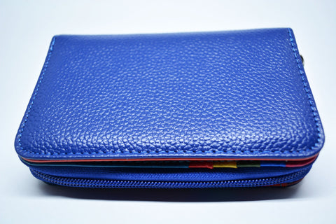 Leather Women Wallet-Electric Blu - edocollection
