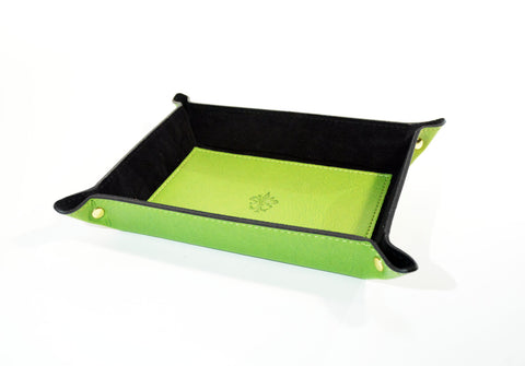 Leather Catch-All Tray-Green - edocollection