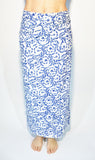 Cotton Sarong Blu Flowers - edocollection