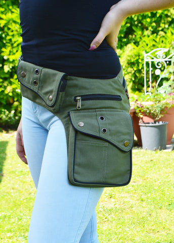 Women's Cotton Utility Belt-Army Green - edocollection