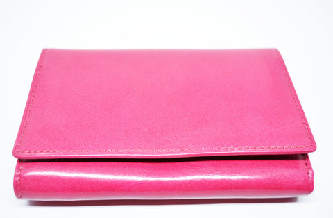 Leather Bifold Wallet-Pink - edocollection