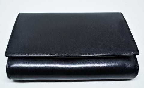 Leather Bifold Purse Wallet-Black - edocollection