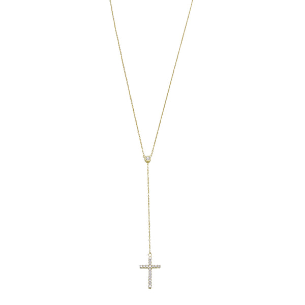 CROSS DROP Y-NECKLACE