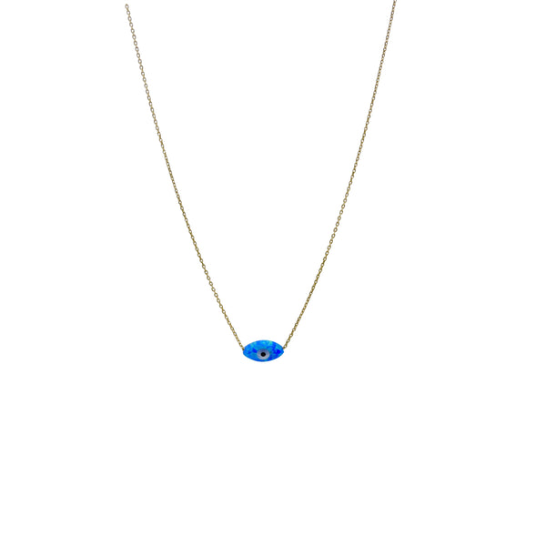 BLUE OPAL EYE NECKLACE