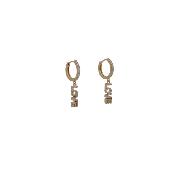 LOVE HUGGIE EARRINGS