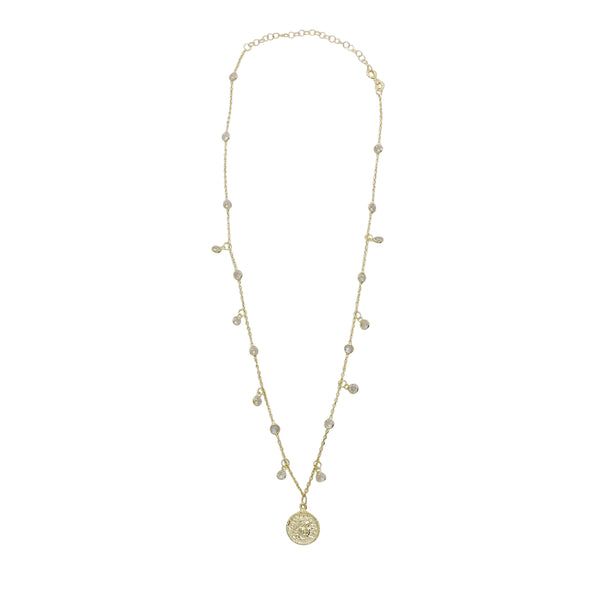 BEZEL COIN NECKLACE