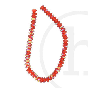 Glass Beads, Glass, Beads, Glass, Red, Ruby, AB, Rondell, 4x6mm, 5x8mm, 5mm, 8mm, 4mm, 6mm