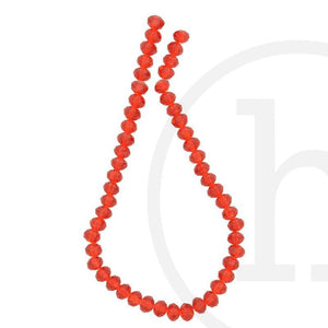 Glass Beads, Glass, Beads, Glass, Red, Ruby, Faceted, Rondell, 4x6mm, 6x8mm, 8x10mm,  8mm, 10mm, 4mm, 6mm, Light Red