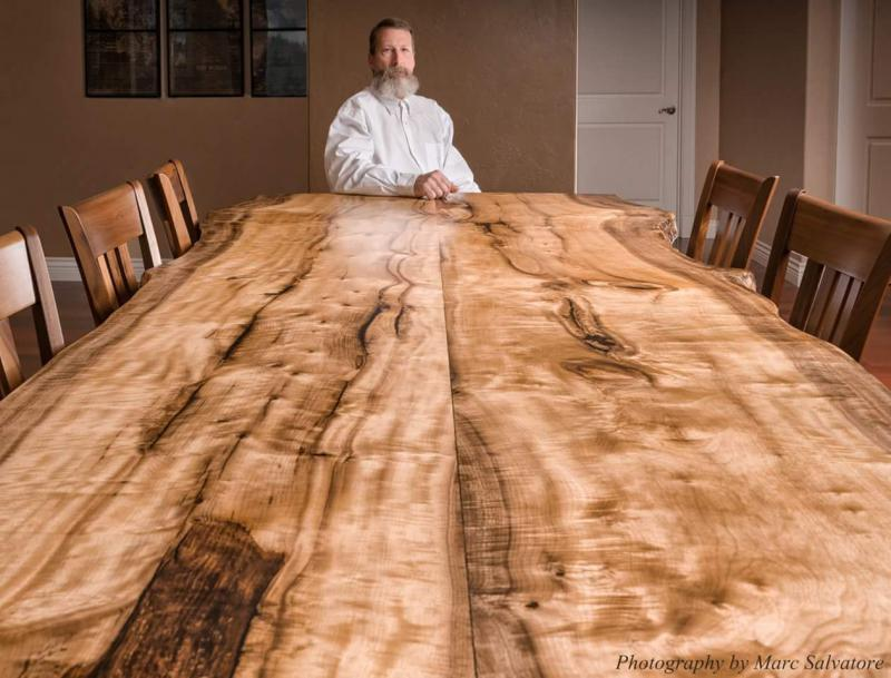 Oregon Myrtle Wood Slab Table