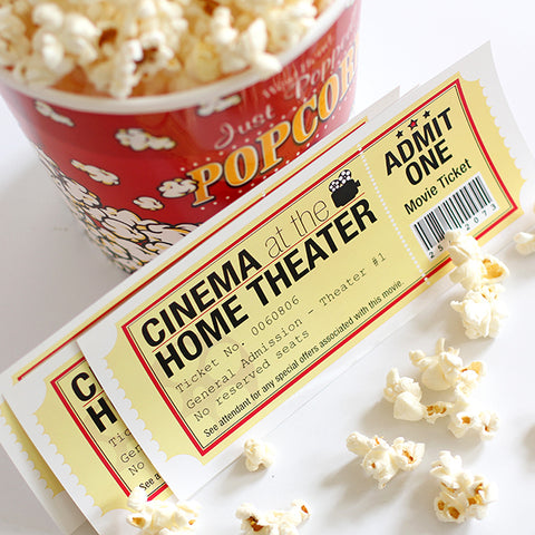 popcorn and cinema ticket