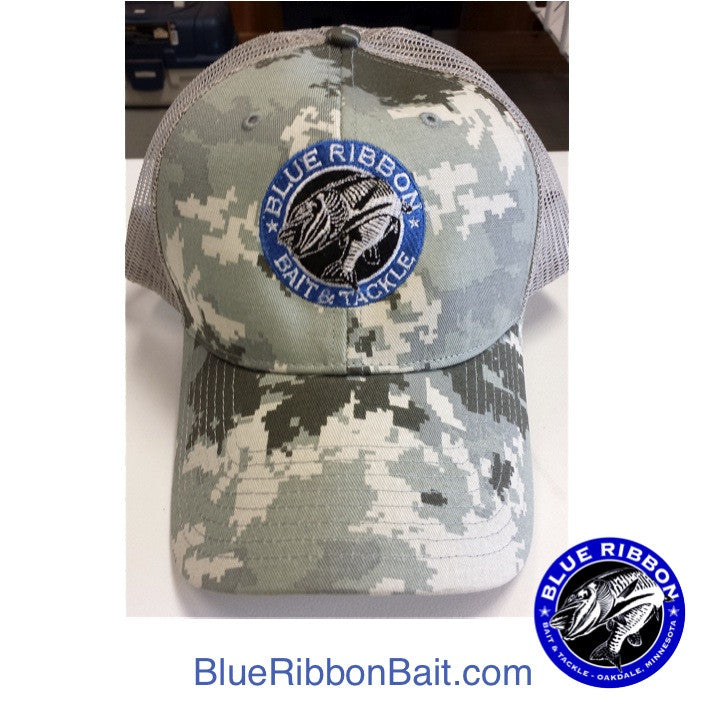 Blue Ribbon Bait & Tackle | Digital Camo Cap -  - Blue Ribbon Bait & Tackle - Blue Ribbon Bait & Tackle