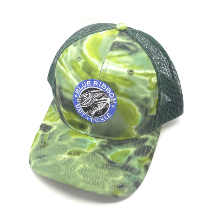 Blue Ribbon Bait & Tackle | 3-D Aqua Camouflage Cap -  - Blue Ribbon Bait & Tackle - Blue Ribbon Bait & Tackle