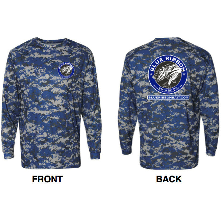 Blue Ribbon Bait & Tackle | Digital Camo Long Sleeve Shirt -  - Blue Ribbon Bait & Tackle - Blue Ribbon Bait & Tackle