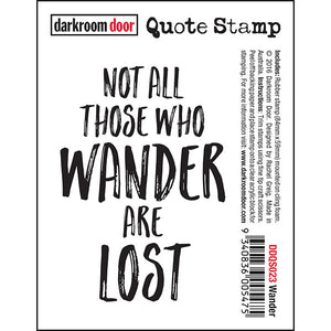 Darkroom Door Cling-Quote Stamp - Wander at micmoc.com at Mic Moc Curated Emporium