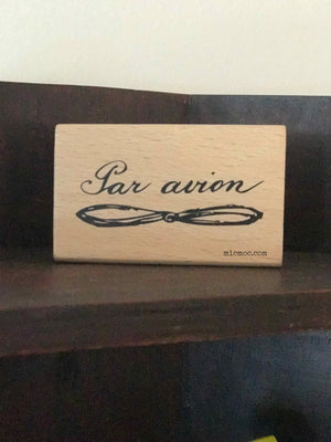 Par Avion Airmail Rubber Stamp by micmoc.com at Mic Moc Curated Emporium