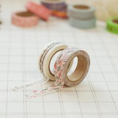 Runa Script & Floral Twin Washi Tape - by Daily Like by micmoc.com at Mic Moc Curated Emporium