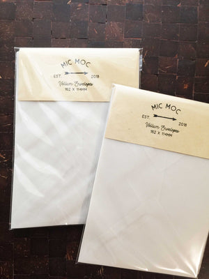Vellum Envelopes - 10 pc Pack by micmoc.com at Mic Moc Curated Emporium