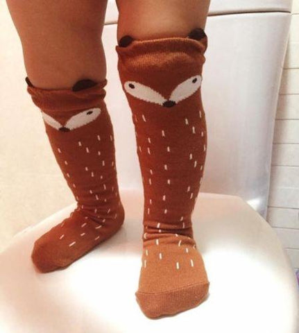 Little Fox Cotton Knee High Socks - Debbie's Kids Boutique