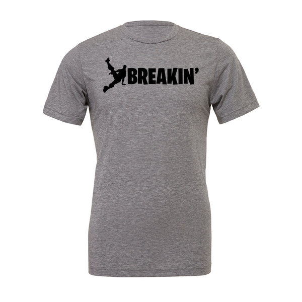 Breakin Fortnite Tee. Show off your love for Fortnite battle royal with these customizable tees. Whether your favorite Fortnite move is Flossin or Breakin we have you covered! Choose your tee color, size, art, and your art color to make this epic tee yours today.