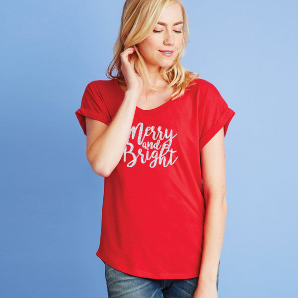 Merry and Bright  Dolman Tee