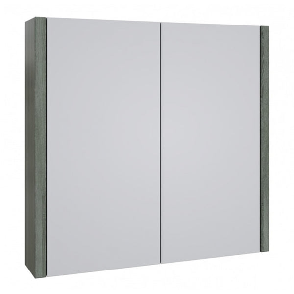 Pure 750mm Wall Mounted Mirror Bathroom Cabinet - Grey Ash