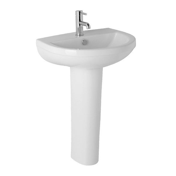 Refresh 500mm 1 Tap Hole Basin and Pedestal