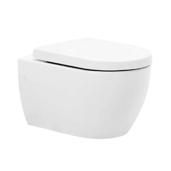 Optima Wall Hung Toilet WC Pan and Soft Close Toilet Seat