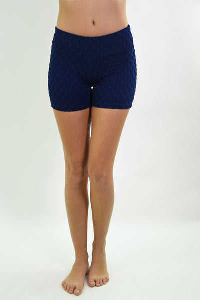 RIO GYM Ana Ruga Navy Shorts yoga wear for women