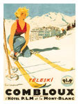 Vintage Skiing Art Poster Reprints