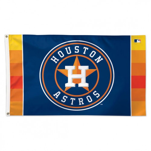 Houston Astros Official MLB Baseball 3'x5' Deluxe-Edition Team Flag - Wincraft Inc.