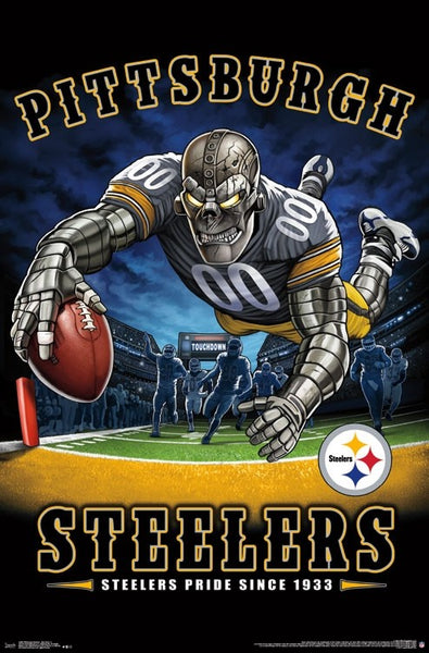 "Pittsburgh Steelers ""Steelers Pride Since 1933"" NFL Theme Art Poster - Liquid Blue/Trends Int'l."