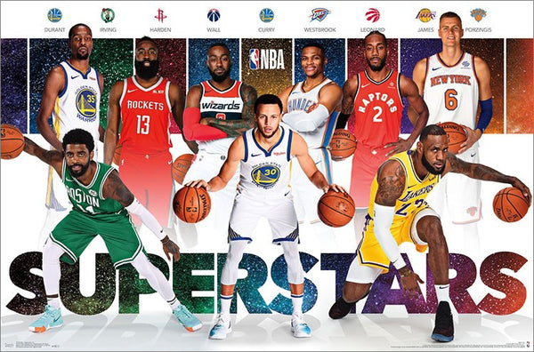 NBA Superstars 2018-19 Poster (Durant, Harden, LeBron, Curry, Wall, Kawhi, Kyrie, Porzingis) - Trends