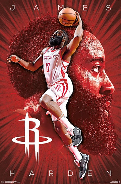 "James Harden ""Fearsome"" Houston Rockets NBA Basketball Poster - Trends 2018"