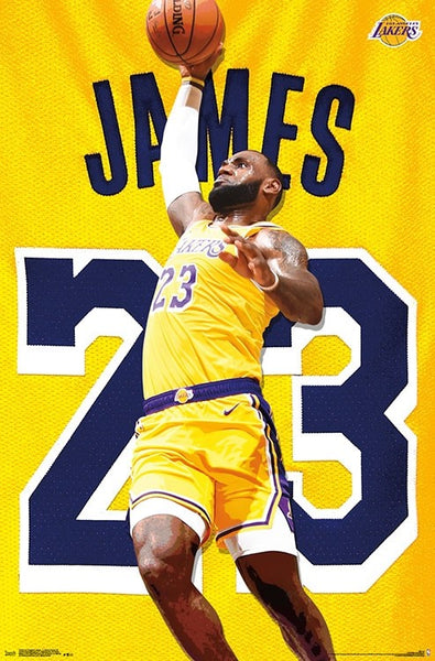 "LeBron James ""Showtime Slam"" Los Angeles Lakers Official NBA Poster - Trends 2018"