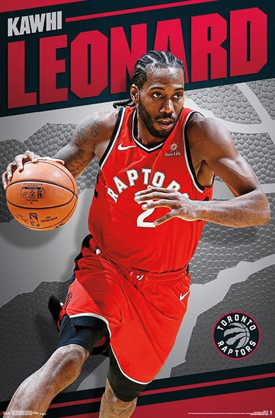 "Kawhi Leonard ""Drive"" Toronto Raptors NBA Basketball Action Poster - Trends 2018"
